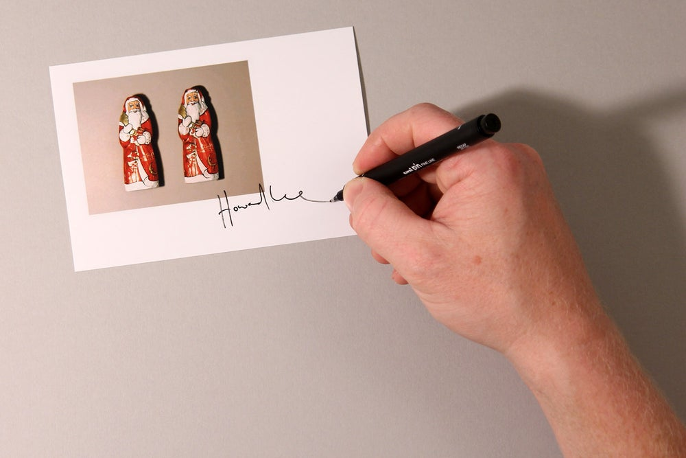 Image of Chocolate Santa Autograph Mini Print