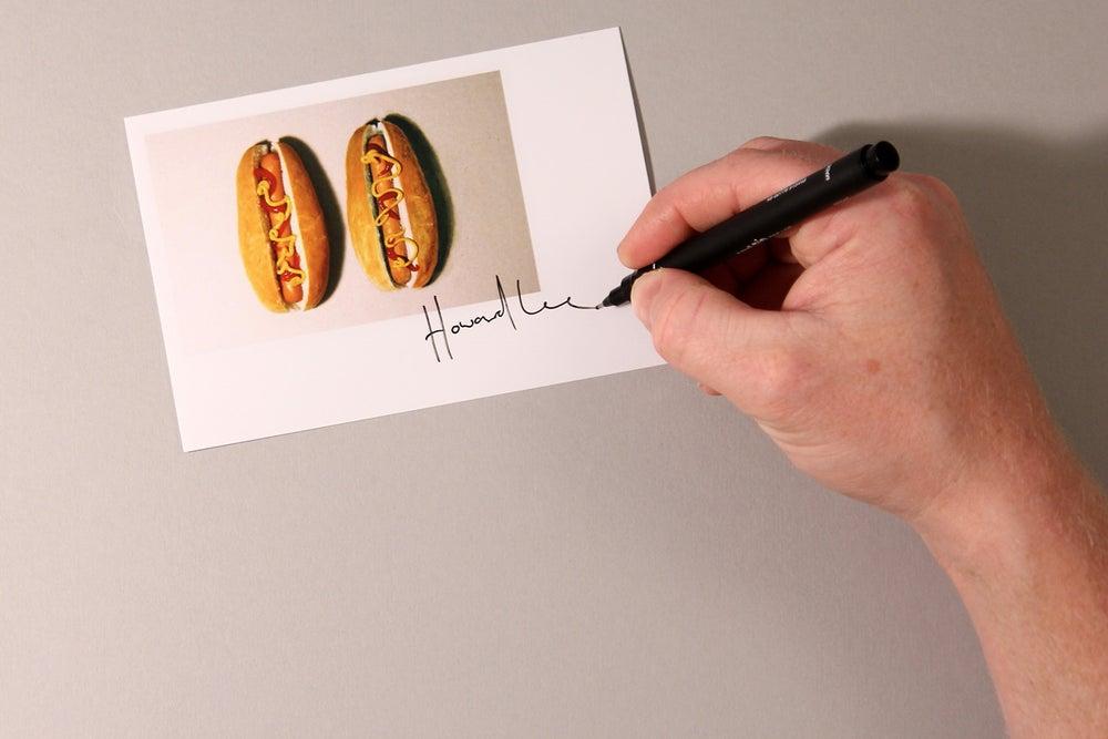 Image of Hot Dog Autograph Mini Print