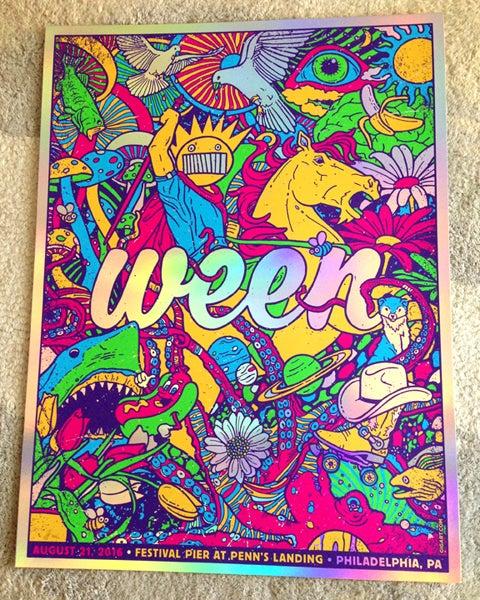 Image of Ween Philadelphia 2016 VIP Holographic Foil Print