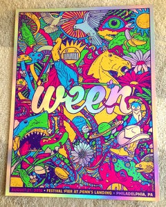 Image of Ween Philadelphia 2016 VIP Holographic Foil Print