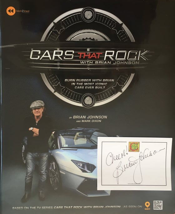 Image of Cars That Rock hardcover book (signed by Brian Johnson)