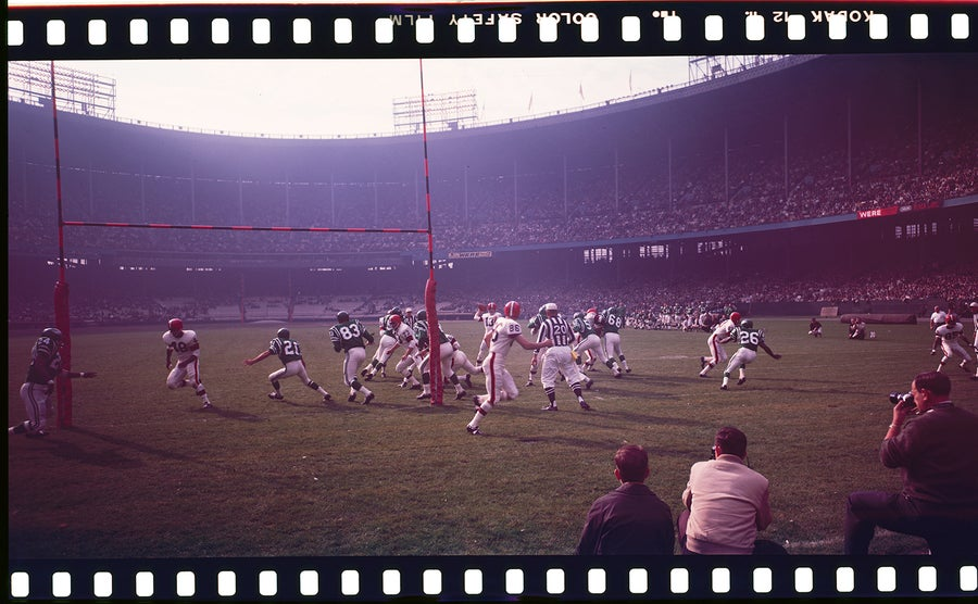 Image of Panoramic photo of Cleveland Browns 1960s