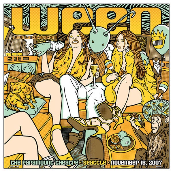 Image of Ween Seattle 2007 Poster