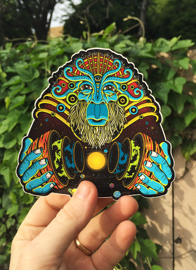 "Image of ""COSMIC SHAMAN"" sticker"