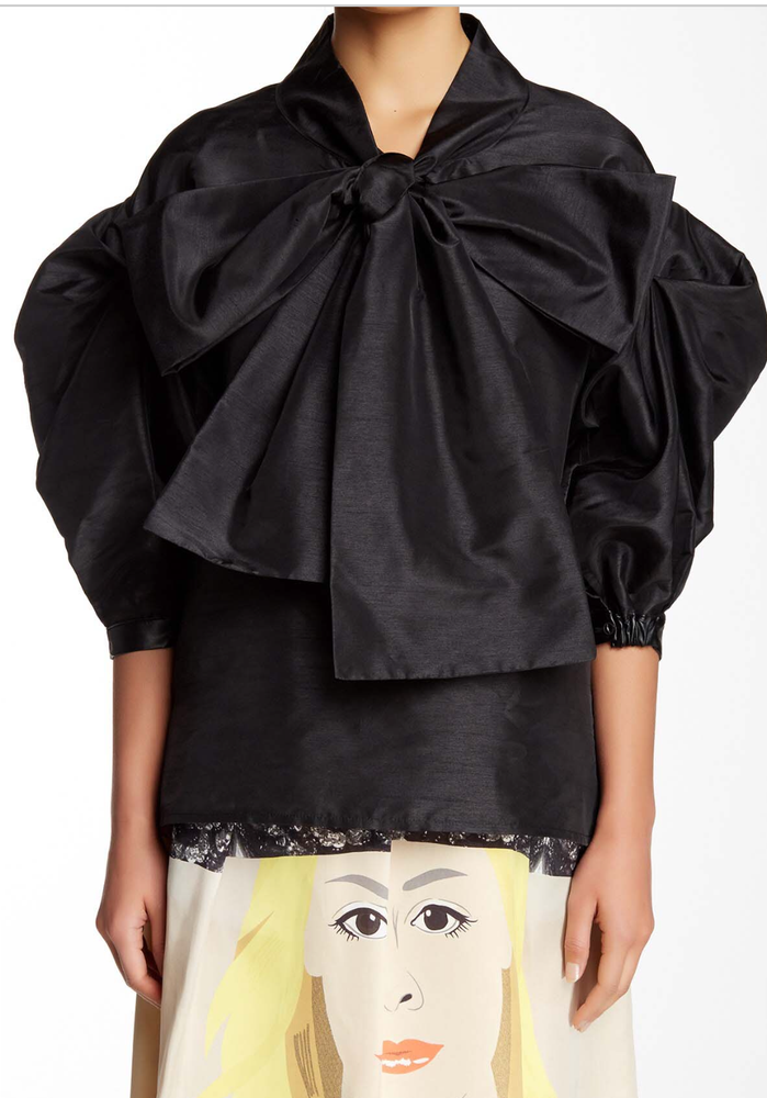 Image of Black Luminous Blouse