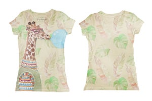 Image of Giraffe (tee-shirt fille), (body bébé)