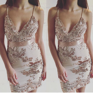 Image of HOT SHINING SEQUINS STRAPS DRESS