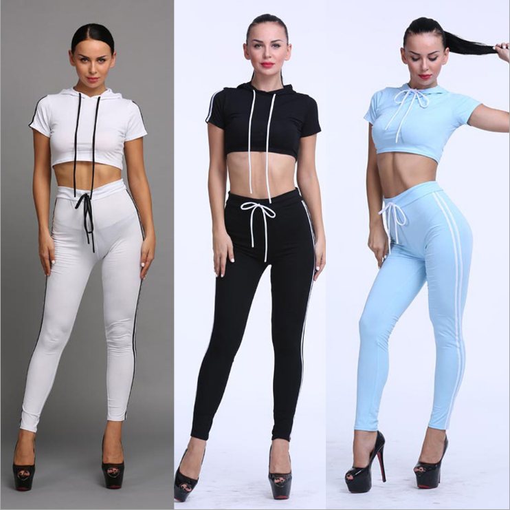 Image of Fashion hooded casual sport two-piece outfit