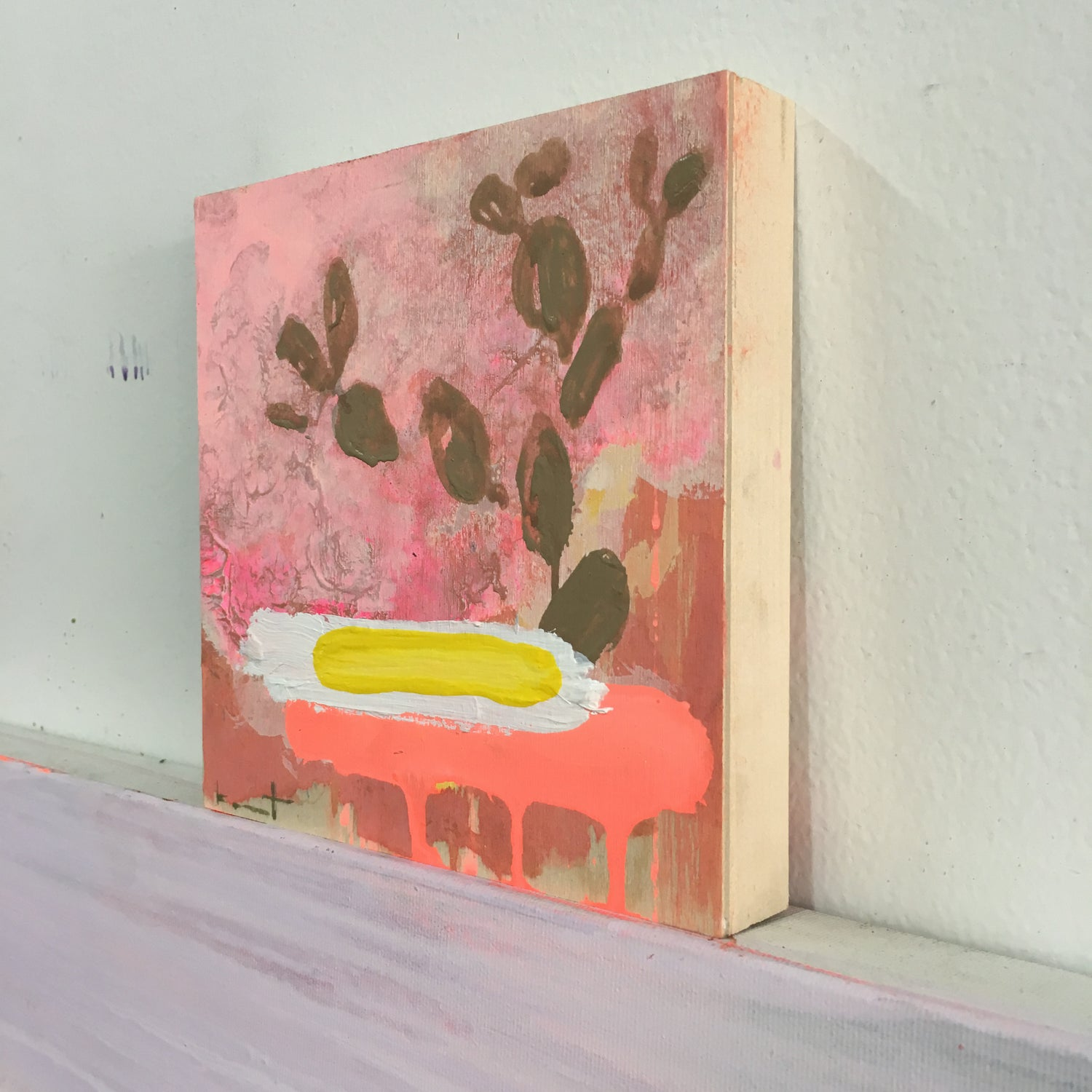 Image of tiny painting no. 55 (sunny side up)