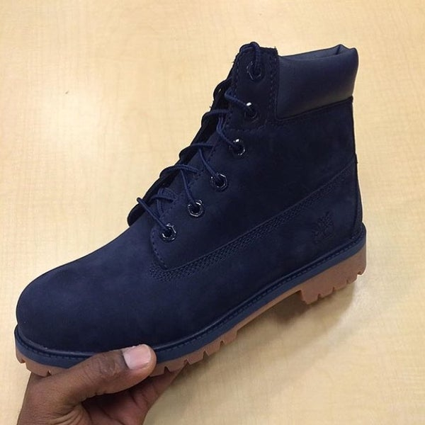 """Image of NAVY TIMBERLAND BOOTS 6"""""""
