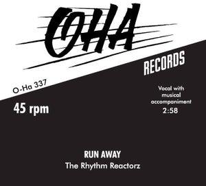 "Image of 7"" Rhythm Reactorz : Run Away.  Ltd Edition 150 copies."