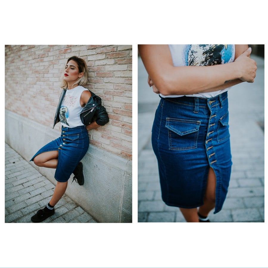 Image of Falda Denim Streetstyle