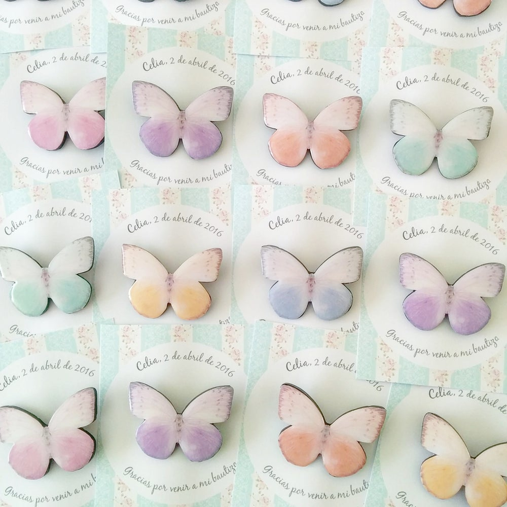 Image of Pack 100 broches mariposas variadas