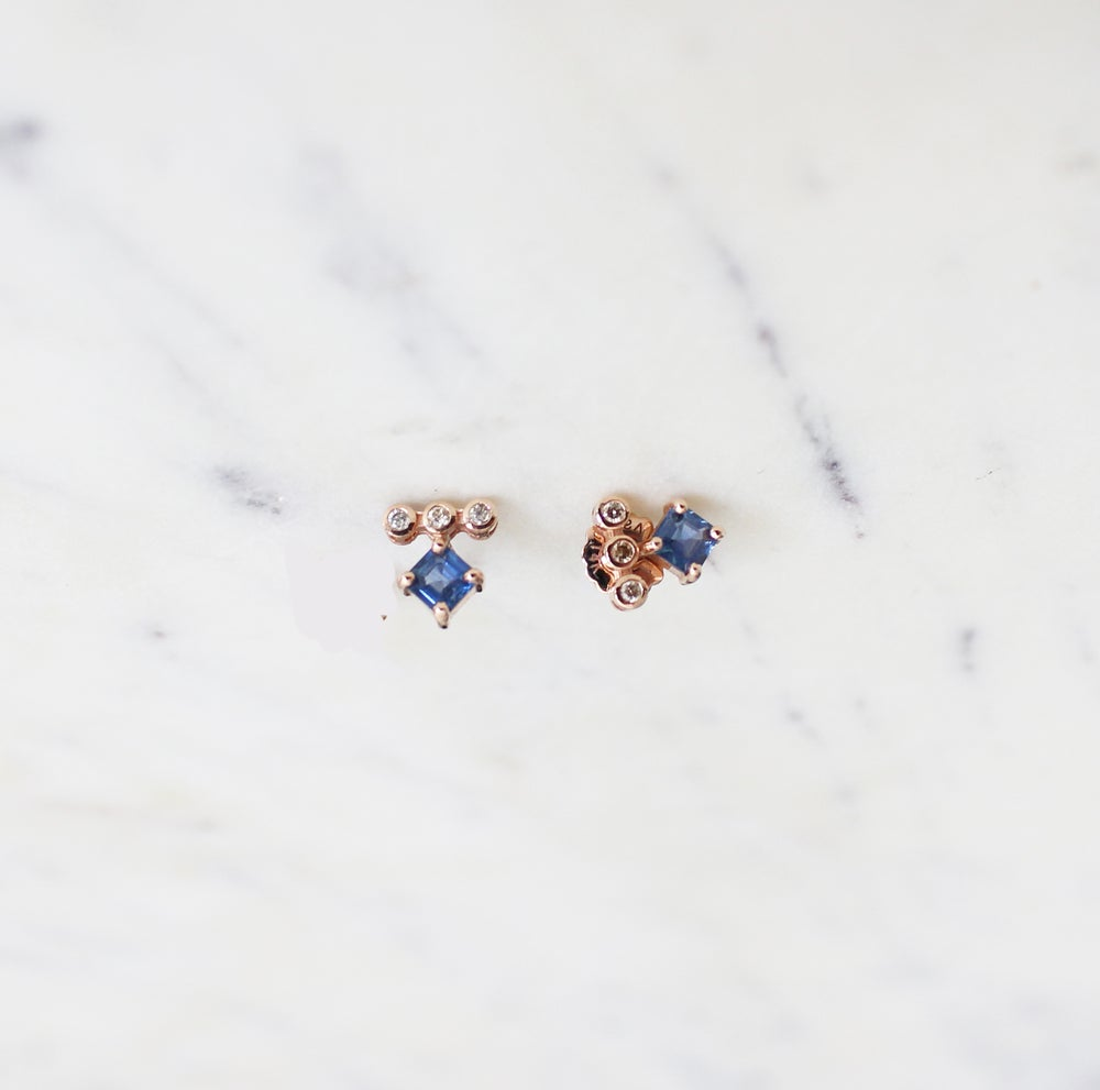 Image of Odette Sapphire Earring