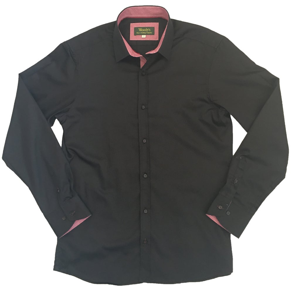 Image of Black w/Red Print Party Shirt