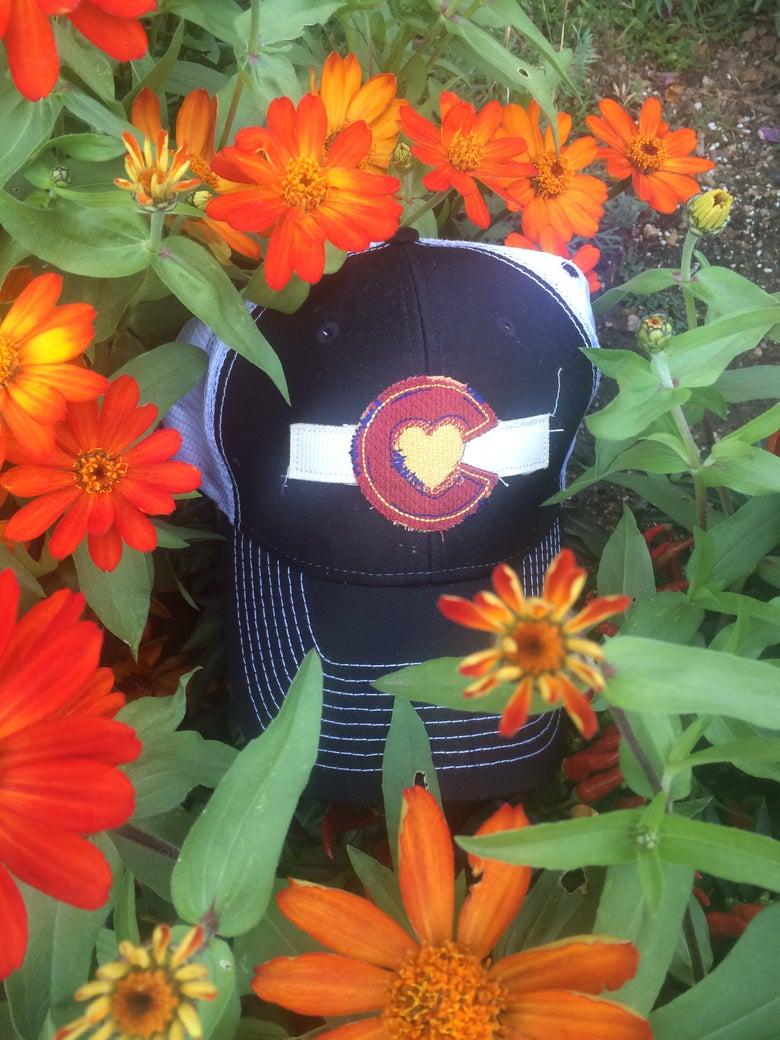 Image of Colorado Love Trucker Hat- Black