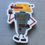 Image of die-cut robot sticker #03