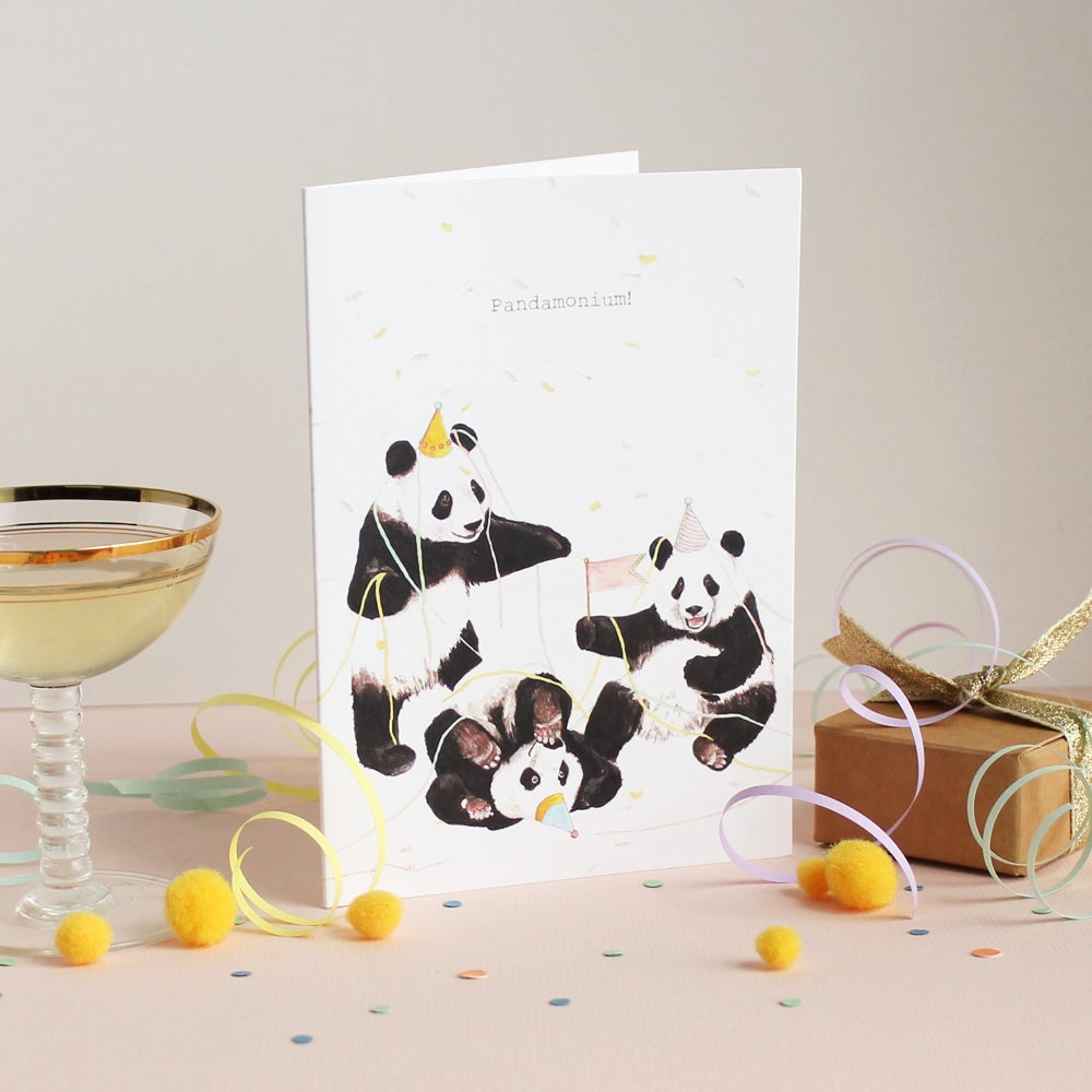 Image of Pandamonium Greetings Card
