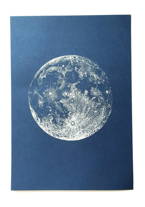 Image of Glow in the Dark Moon - A4