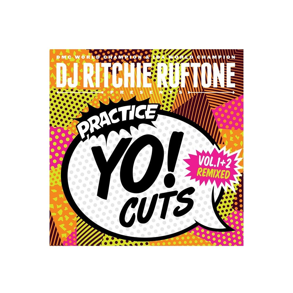 "Image of Practice Yo! Cuts V1 and V2 remixed (original white 7"")"