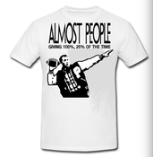 Image of Almost People LP/T Shirt BUNDLE!!! PRE ORDER