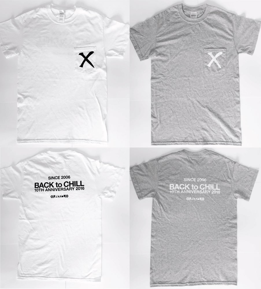 Image of BACK TO CHILL 10th Anniversary Pocket T-shirts