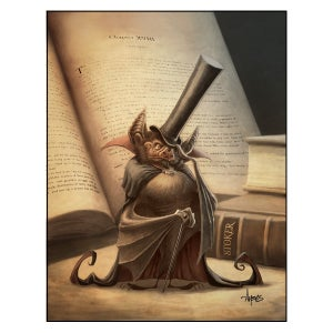 "Image of ""Sir Desmodus Rotundus"" Vampire Bat Print"