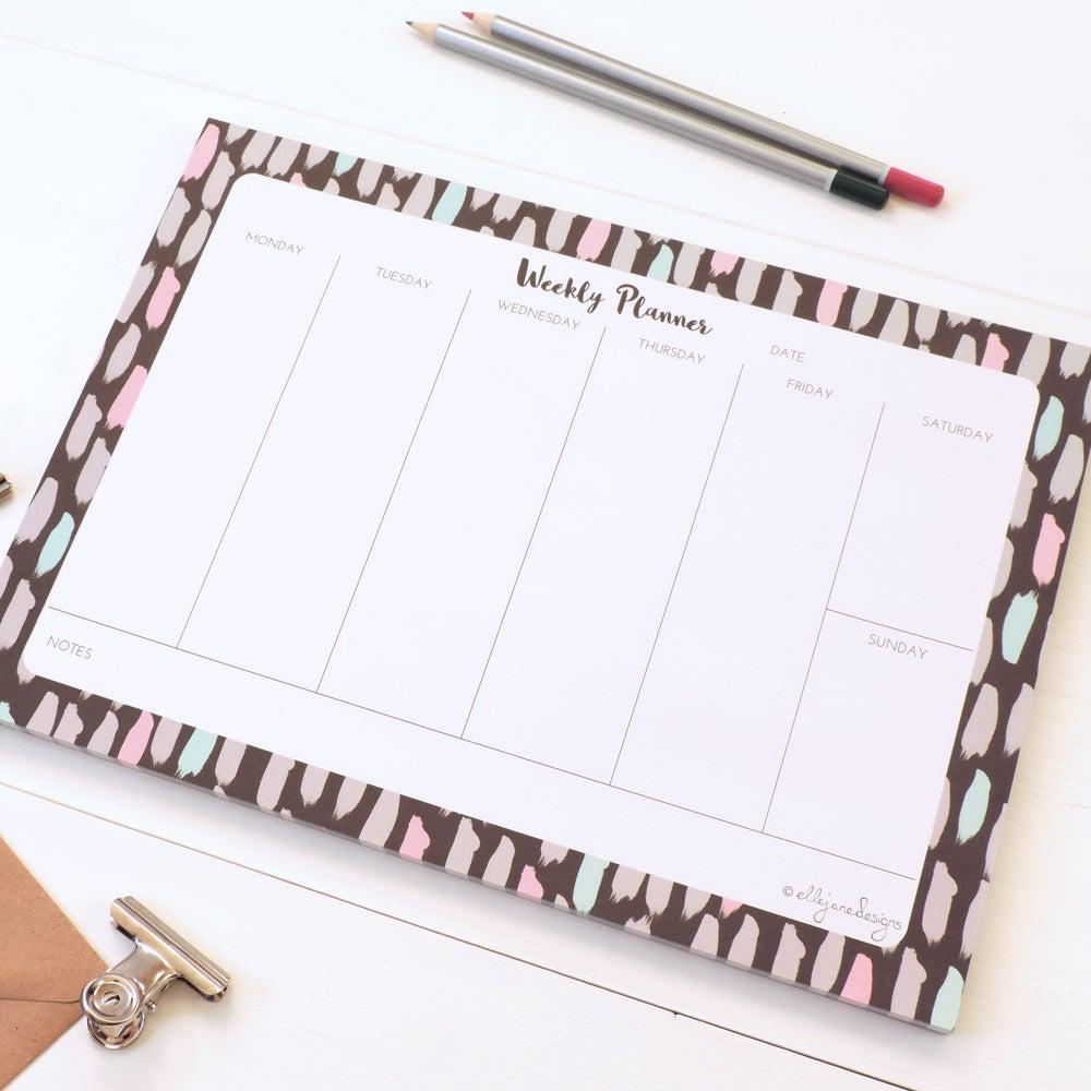 Image of Painterly Brushstrokes - Weekly Planner Desk Pad
