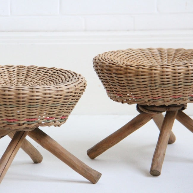 Image of French Wicker Stools