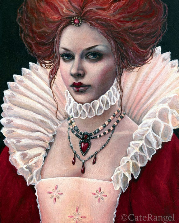 Image of Queen of Hearts - Special Edition Canvas Print 8x10