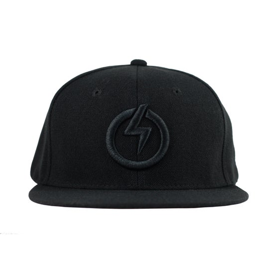 Image of RAIDEN SYMBOL SNAP BACK HAT - BLACK/BLACK
