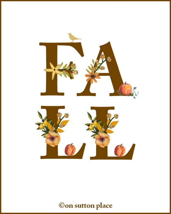 Image of FALL Floral Alphabet Printable