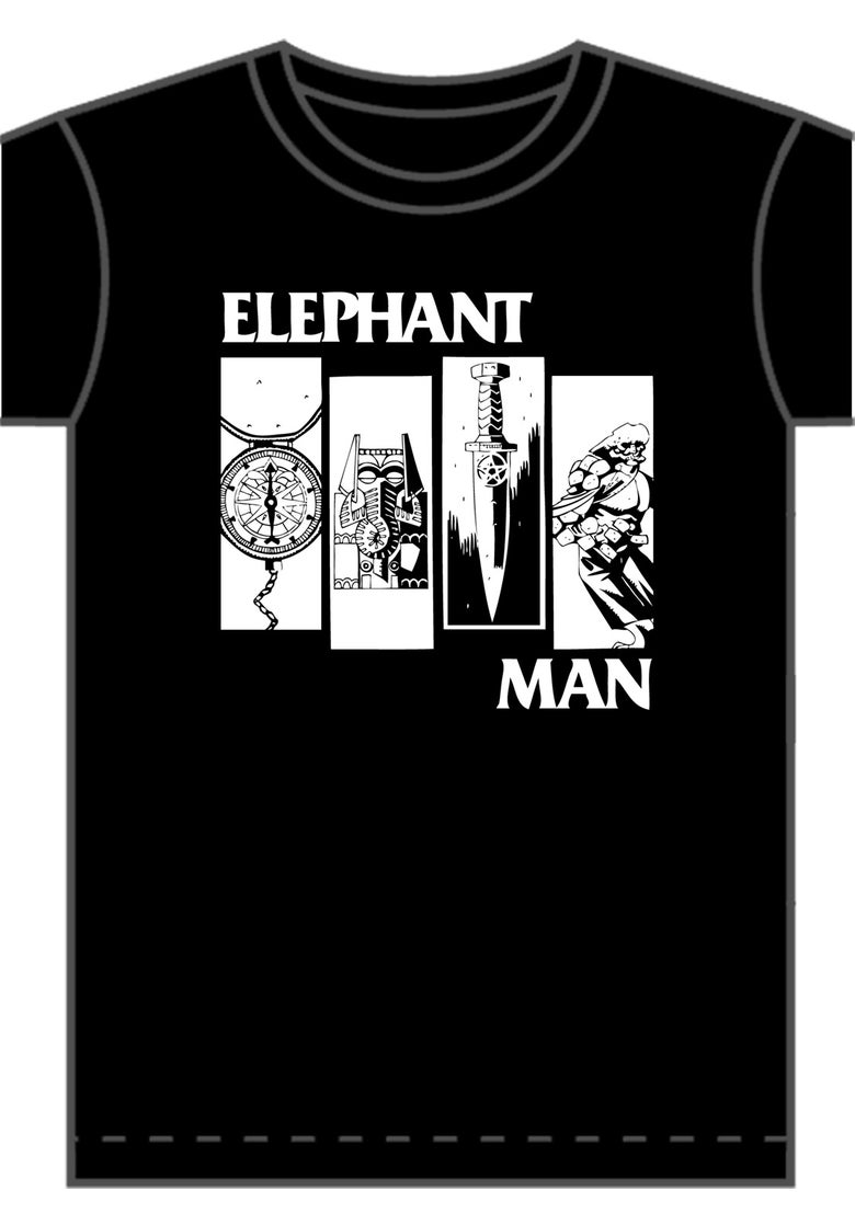 Image of Elephantman Flag T-shirt  (Black)