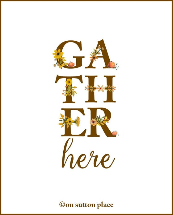Image of GATHER HERE Floral Alphabet Printable