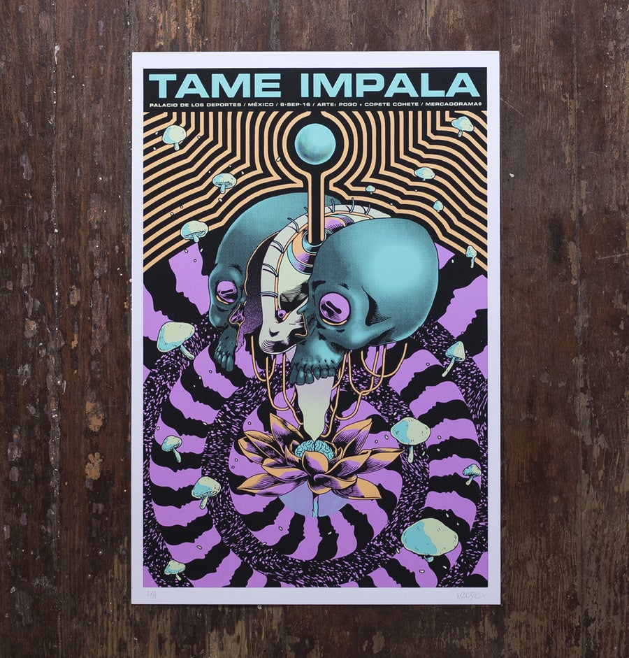 Image of Tame Impala / México Tour 2016 - Silkscreen Poster