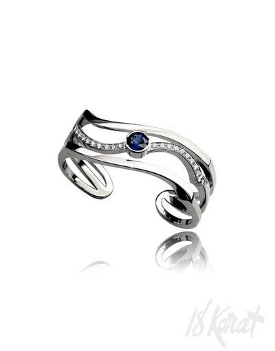 Tran's Sapphire and Diamond Ring - 18Karat Studio+Gallery