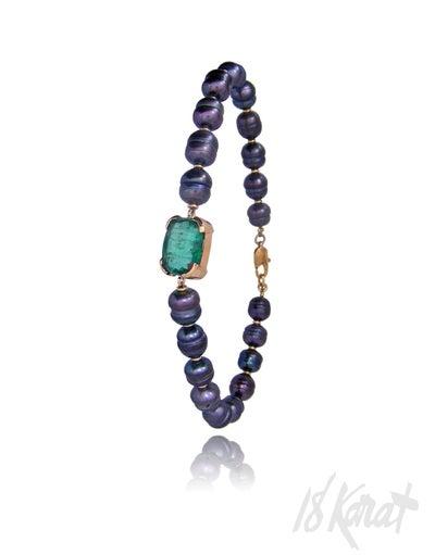 Steve's Emerald and Pearl Bracelet - 18Karat Studio+Gallery