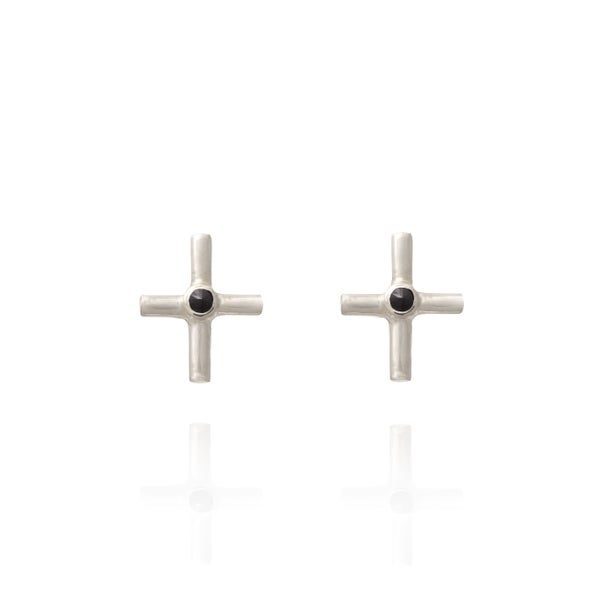 Image of P-Sign Silver Earring