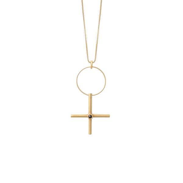 Image of W-Sign Gold Necklace