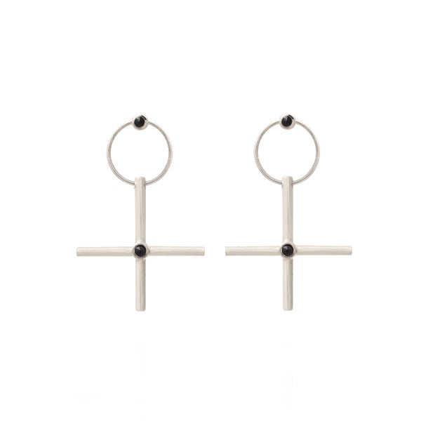 Image of W-Sign Silver Earring