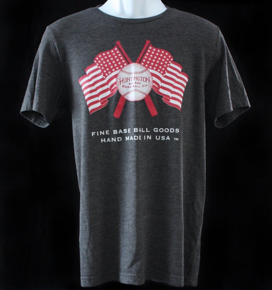 Image of HBBC Flags T Shirt - Charcoal Heather