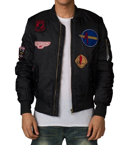 Image of FLIGHT BOMBER JACKET BLACK