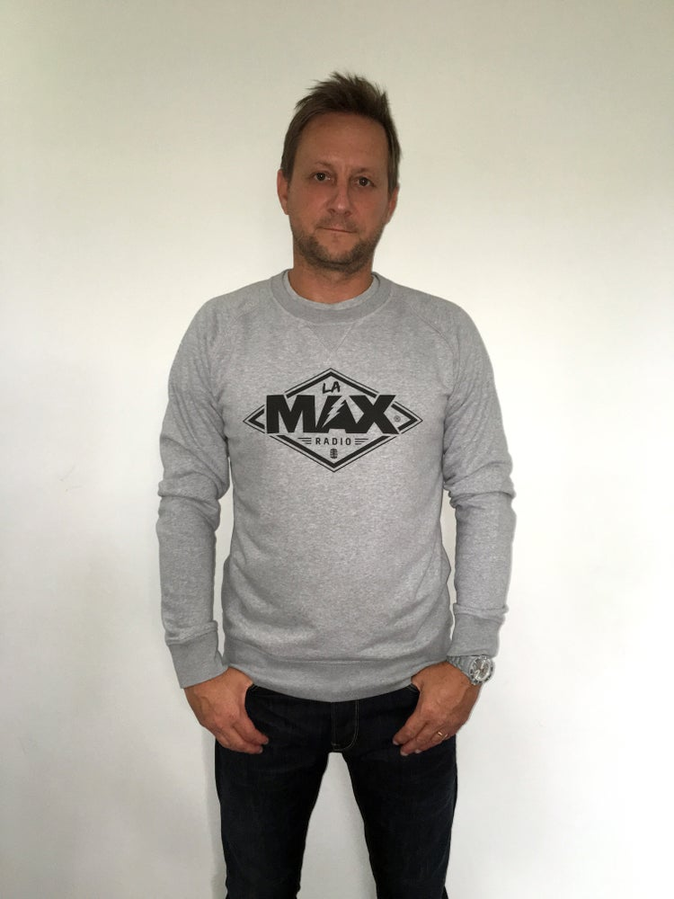Image of Sweat-shirt  Gris - La MAX Radio - Noir