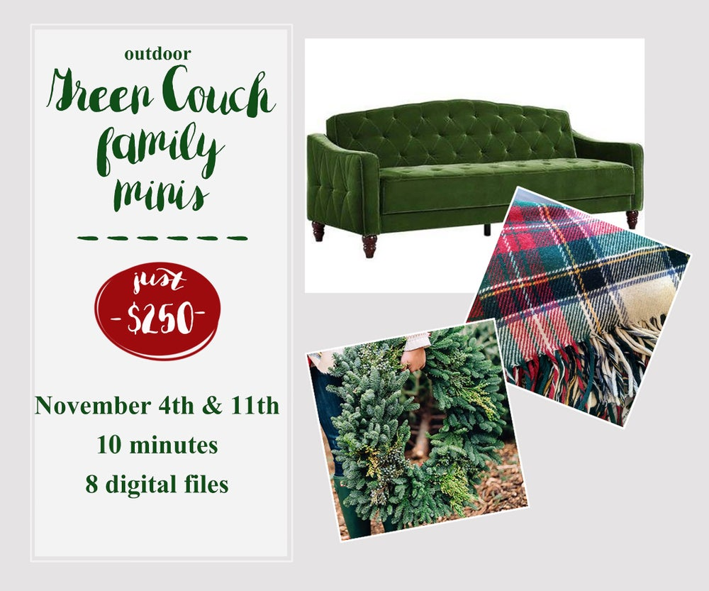 Image of Green Couch Outdoor minis!