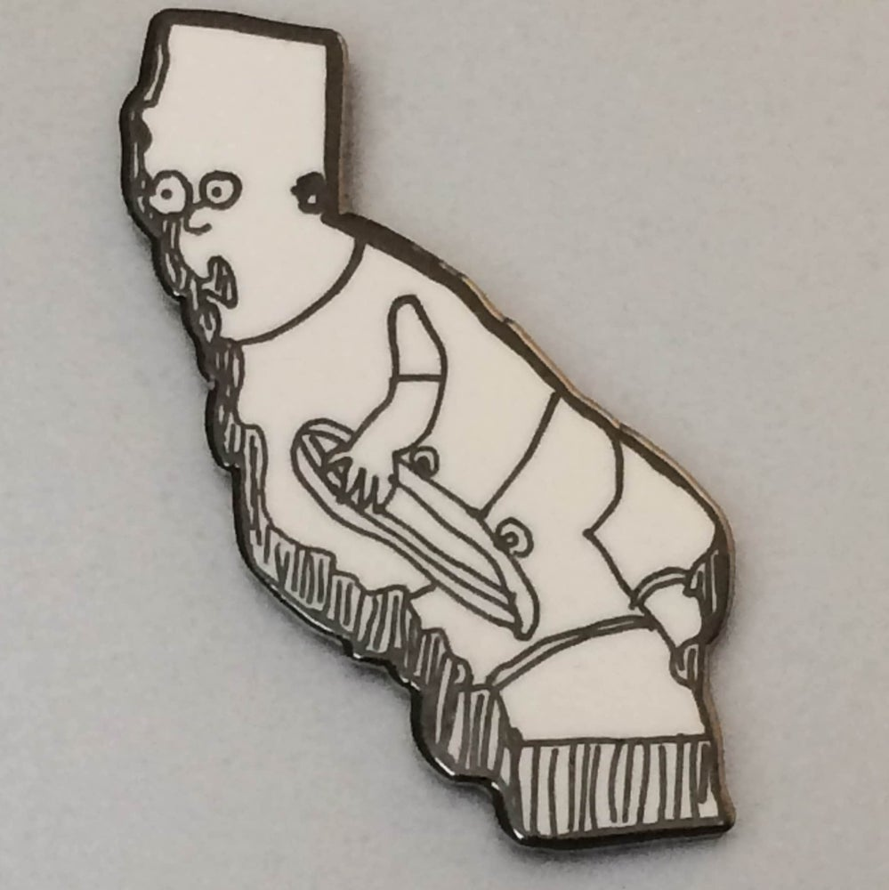 Image of California Bart Enamel Pin
