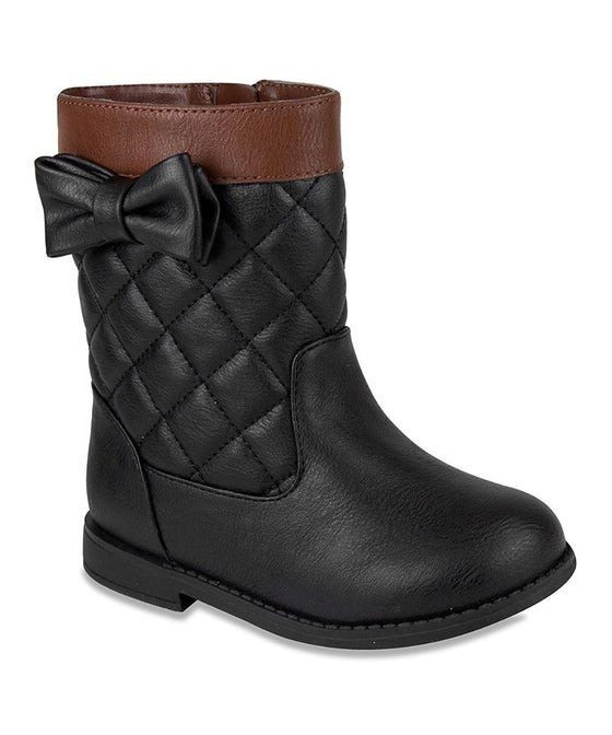 Image of Black/Brown Quilted Boots