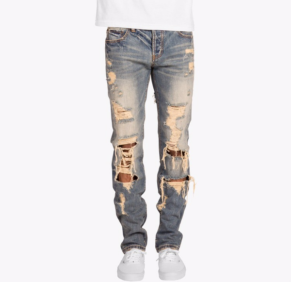 Image of DISTRESSED DENIM JEANS | EMBELLISH NYC