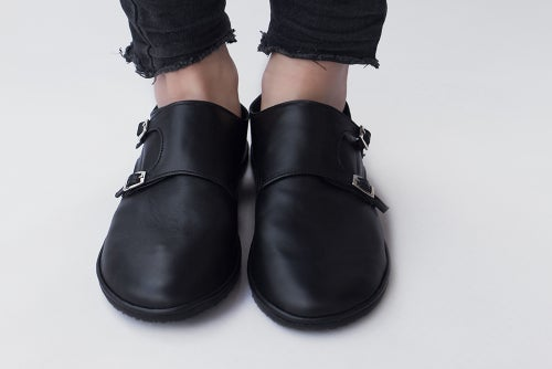 Image of Monk Double Strap in Matte Black