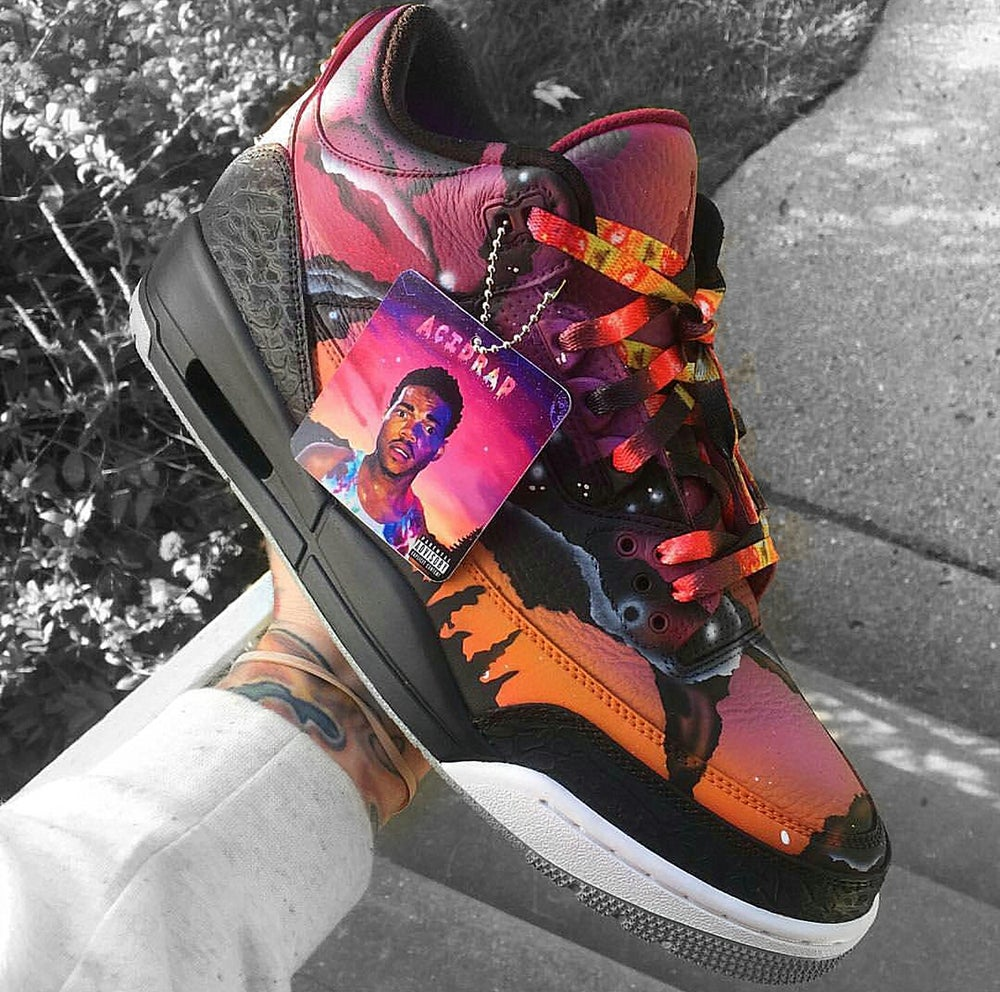"""Image of  Exclusive """"ASTEROID/GALAXY"""" LE Custom LACES"""