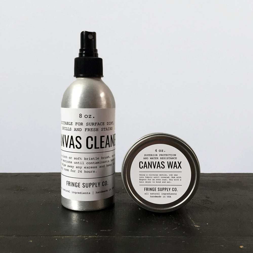 Image of Canvas cleaner & Canvas wax